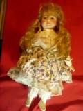 Papusa de Colectie-Rosa-cap,maini portelan ,h=39,5cm marca Classic Collection