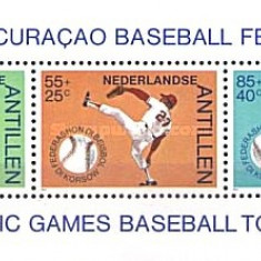 Antilele Olandeze 1984 - baseball, bloc neuzat