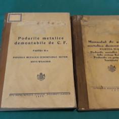 LOT 2 CARTI CONSTRUCȚII PODURI / PODURI METALICE DEMONTABILE *VOL. II, III/1938