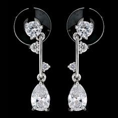 Cercei placati cu Aur 18K si Diamante, Damaris Platinum