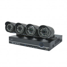 Kit supraveghere WiFi AHD PNI House PTZ1200, DVR + 4 camere full HD, 24 LED-uri