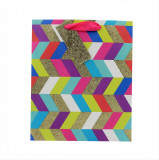 Punga hartie L Colorful Zigzag