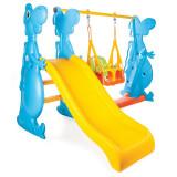 Spatiu de joaca Dino Swing and Slide Set