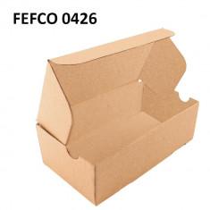 Cutie cu autoformare 400x250x200 mm, carton natur microondul E, FEFCO 0426
