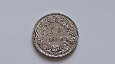 Elvetia , 1/2 Franc 1948 foto