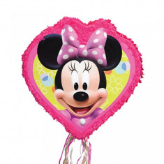 Pinata inima cu panglici Minnie Mouse