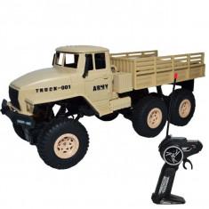 Masina cu telecomanda RC, Camion militar cu suspensii, acumulator reincarcabil 31x12,5x13 cm