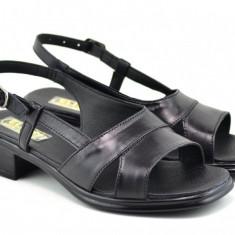 Sandale dama din piele naturala cu platforma - Made in Romania ELIONS2N