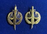 Insigne militare-Insigne România-Semne de armă-Justiție Militară (culoare aurie)