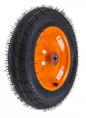 Roata roaba - TT - rulment - mixt - janta stea portocalie - 3.50-8 8PR - MTO-GPA00037 foto