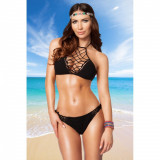 Costum de baie Sexy Underlaid M negru - Sex Shop Erotic24