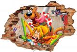 "Sticker ""Wall Crack"" Scooby Doo 3 - 120 x 80 cm"