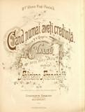 Partitura Poesia de P. V. Grigorie - Fanchetti dedicata pt. Elena Hagi-Pantelli