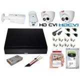 Cumpara ieftin Kit 4 camere supraveghere 2MP HDCVI Full HD, carcasa metalica + DVR 4 canale 5MP + Sursa + Cablu + Mufe + HDD 1TB