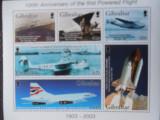 Bloc timbre aviatie avioane baloane dirijabile Gibraltar nestampilate