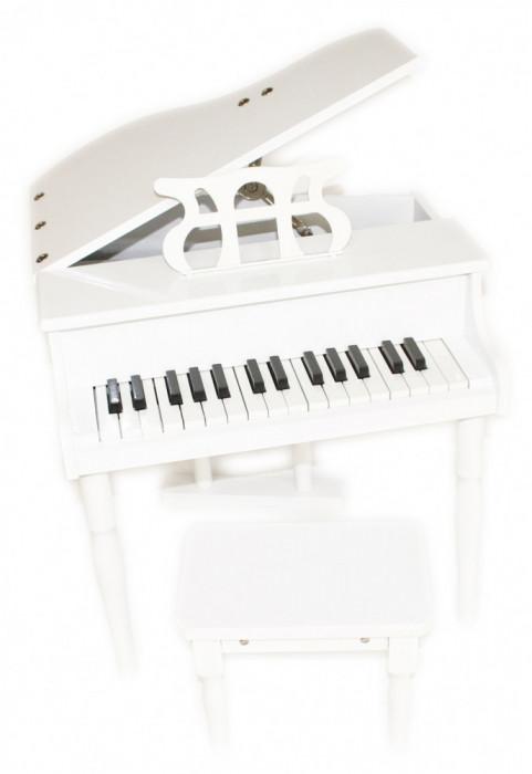 Pian copii + scaun format mini instrument jucarie muzicala