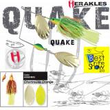 Spinnerbait Herakles Quake, Chartreuse/Orange, 42g