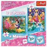 Cumpara ieftin Puzzle Trefl 2In1 Memo Minunata Lume A Printeselor