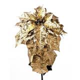 Poinsetta Gold decorativa 80 cm Elegant DecoLux