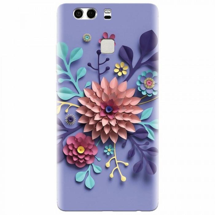 Husa silicon pentru Huawei P9 Plus, Flower Artwork