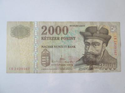 Ungaria 2000 Forint 2010 foto