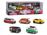 Set 5 machete masinute Volkswagen in cutie cadou Majorette