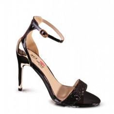 PDS69-1 Sandale elegante cu toc oglinda