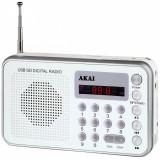 Radio portabil Akai DR002A-521 USB Alb
