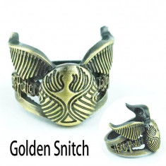 Inel Vintage Bronz HARRY POTTER Handmade Style - Golden Snitch -Marimea 18