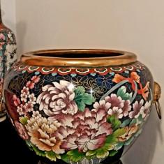 Vas China/ Chinezesc Decorativ Cloisonne Pur Bronz 1920