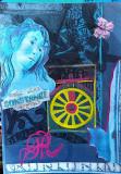Arta abstracta/colaj, caligrafie , pictura, Abstract, Pastel, General