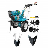 Motocultor HS 1000B, plug cartofi, rarita fixa, 7 CP