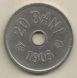 ROMANIA  20  BANI 1905  [1]  VF ,  livrare  in cartonas