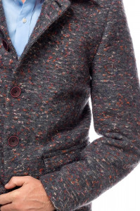 Palton Barbati Casual Scurt din Stofa Tweed B162 Lan07