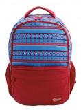 Ghiozdan din Bumbac pentru adolescenti si scolari, Albastru si Rosu