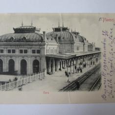 Ploiesti(Ploiesti)-Gara,carte postala circulata 1901,destinatar:Ermil Pangrati, Printata