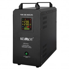 Cumpara ieftin UPS Kemot pentru centrale termice, sinus pur, 500 W, Accu 55 AH, 12 V