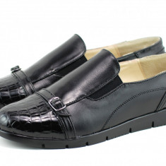 Pantofi dama casual din piele naturala, foarte comozi - P103CRN