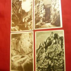 Set 4 Ilustrate Cheile Bicazului inainte de construirea Barajului ,anii '50