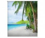 Jaluzea tip rulou Paradise Island 130x180 cm - Blindecor, Albastru