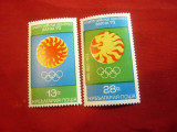 Serie Bulgaria 1973 - Congres Olimpic Varna , 2 valori, Nestampilat