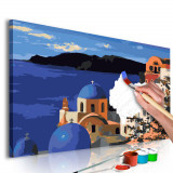 Pictura pe numere - Santorini - 60x40cm, Artgeist