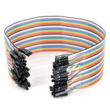 10 cabluri 30cm dupont MAMA-MAMA (female-female) Arduino cablu breadboard (v.326