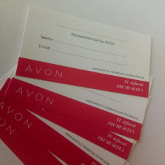 Carti de vizita Reprezentant de top Avon - Set 20 bucati - NOU