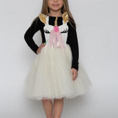 Sarafan-fustă tutu cu pieptar UNICORN by KIDissue, 1-2 ani, 2-3 ani, 3-4 ani, 4-5 ani, 5-6 ani, 6-7 ani, 7-8 ani, 8-9 ani, 9-10 ani, Din imagine