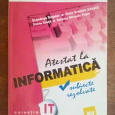 Atestat la informatica- Brandusa Bogdan, Doina Druta