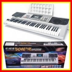 Orga Electronica,Profesionala,61 Clape,128 Timbruri,Display,Intrare Usb&Microfon