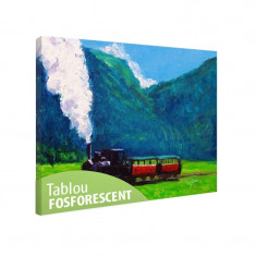 Tablou fosforescent Tren