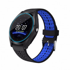 Ceas SmartWatch MediaTek™ V9H - Black & Blue Edition cu senzor PULS