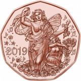 Austria moneda comemorativa cupru 5 euro 2019 UNC in capsula, Europa, Cupru (arama)